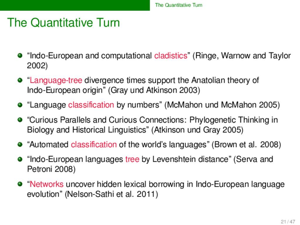 "The Quantitative Turn The Quantitative Turn ""In..."