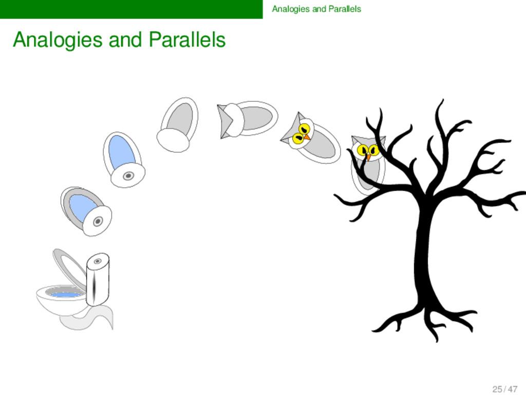 Analogies and Parallels Analogies and Parallels...