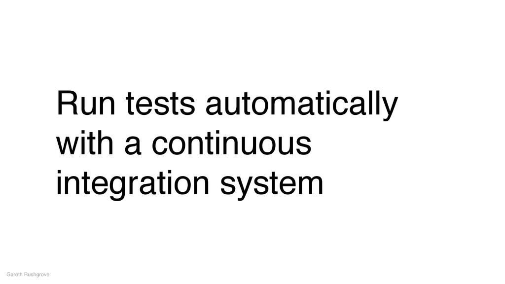 Run tests automatically with a continuous integ...
