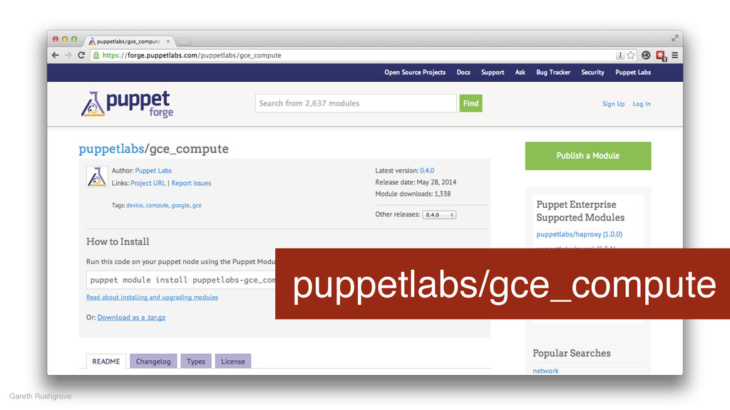 puppetlabs/gce_compute Gareth Rushgrove