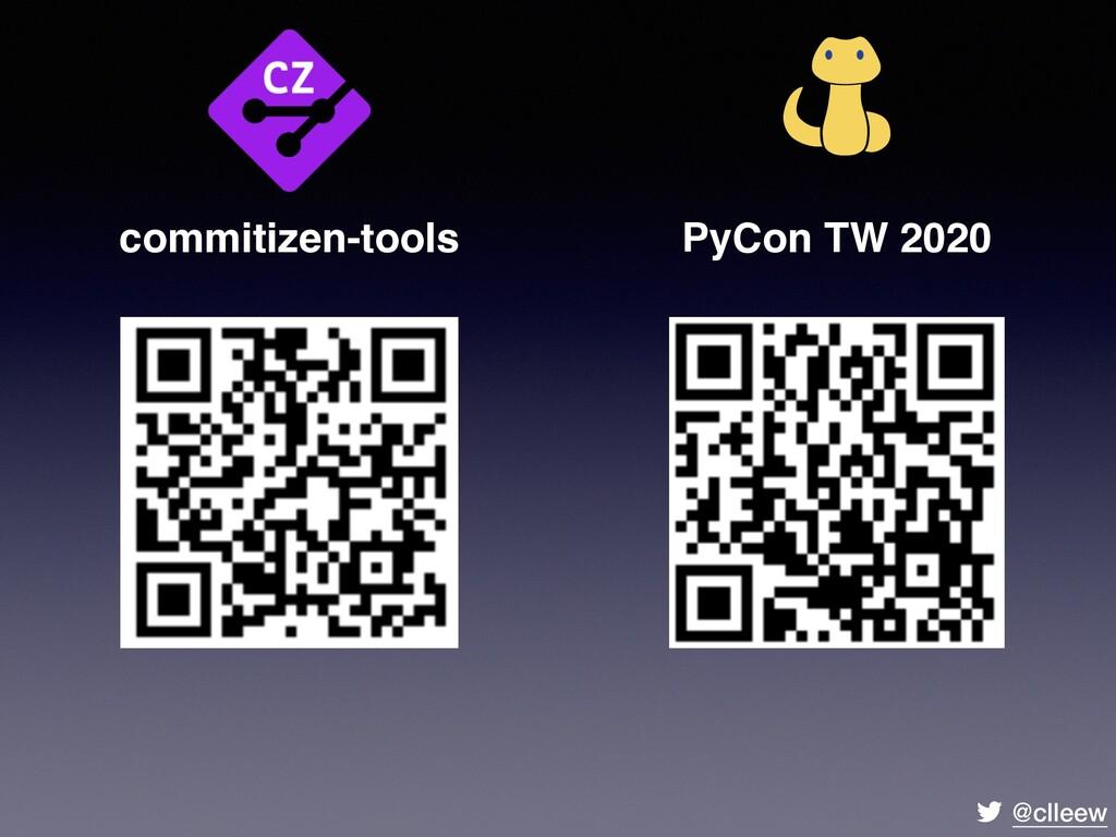@clleew commitizen-tools PyCon TW 2020