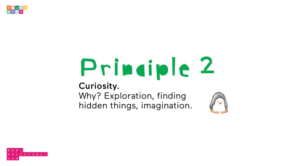 Principle 2 Curiosity. Why? Exploration, findin...