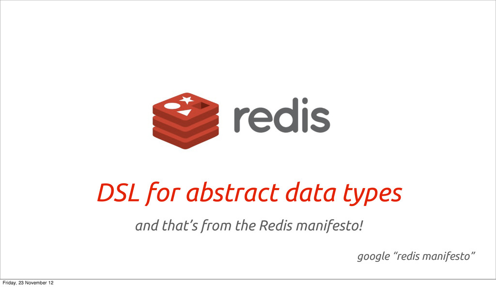 DSL for abstract data types and that's from the...