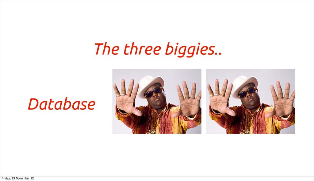 The three biggies.. Database Friday, 23 Novembe...