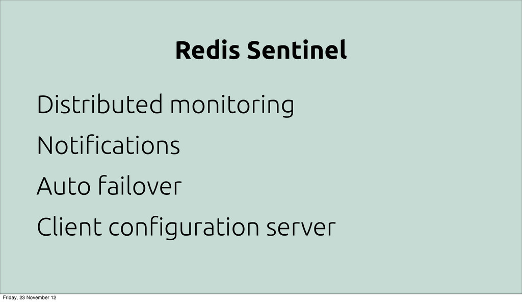 "Redis Sentinel Distributed monitoring Noti""cati..."