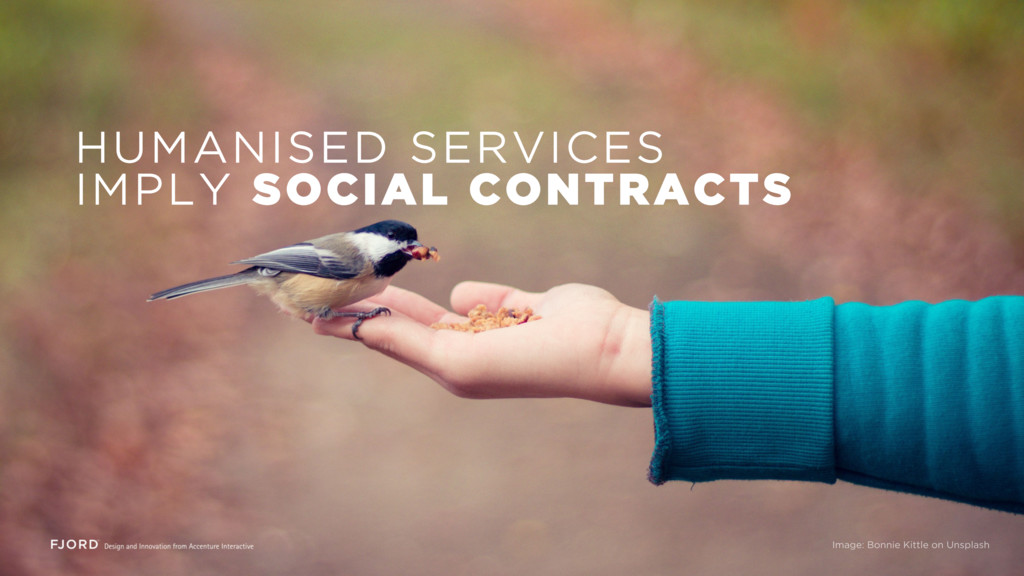 HUMANISED SERVICES IMPLY SOCIAL CONTRACTS