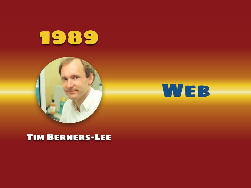 1989 Tim Berners-Lee Web