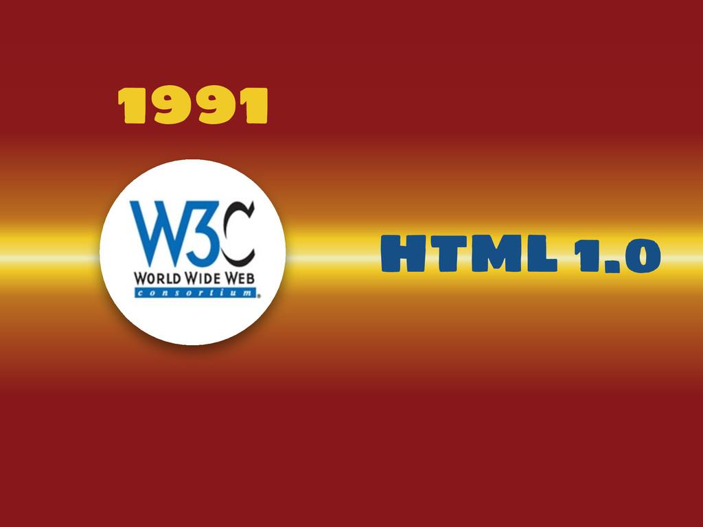 1991 HTML 1.0