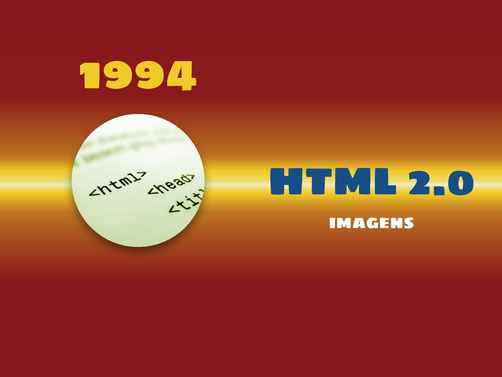 1994 HTML 2.0 imagens