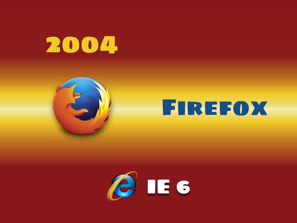 2004 Firefox IE 6