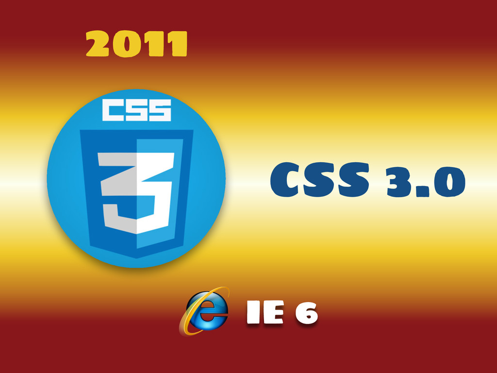 2011 CSS 3.0 IE 6