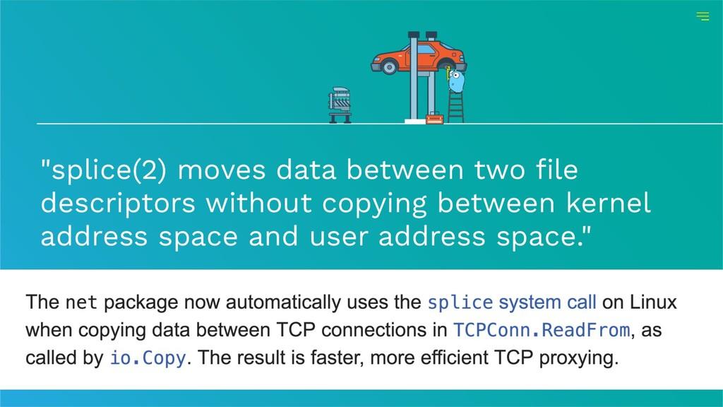 """splice(2) moves data between two file descript..."