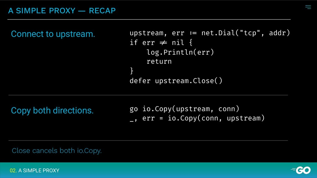 A SIMPLE PROXY — RECAP 02. A SIMPLE PROXY upstr...