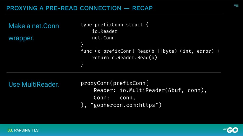 PROXYING A PRE-READ CONNECTION — RECAP 03. PARS...