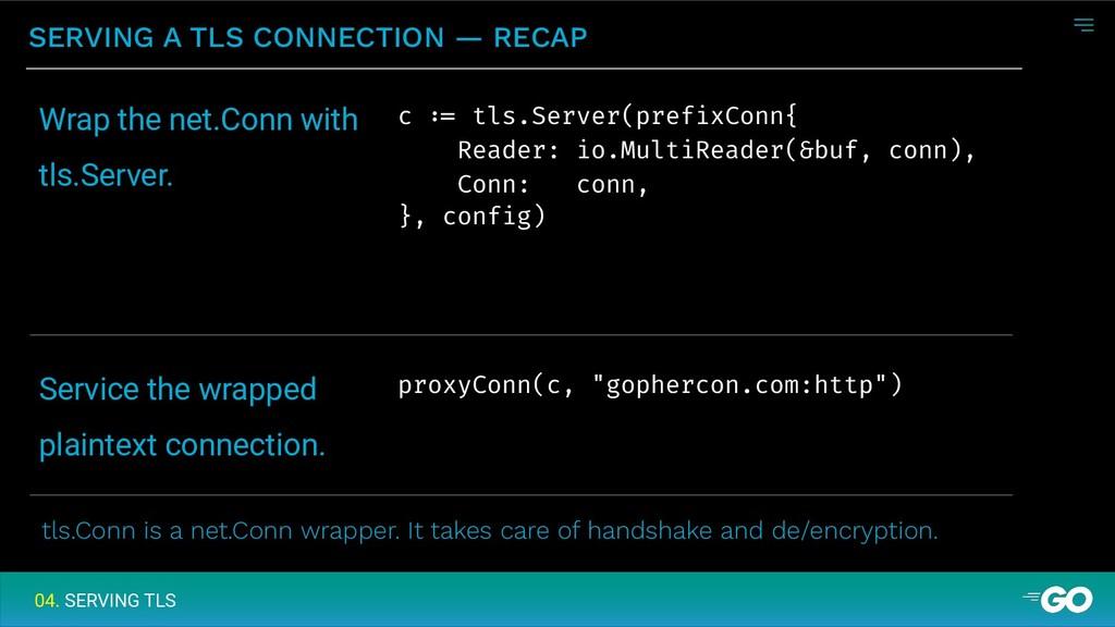 SERVING A TLS CONNECTION — RECAP 04. SERVING TL...