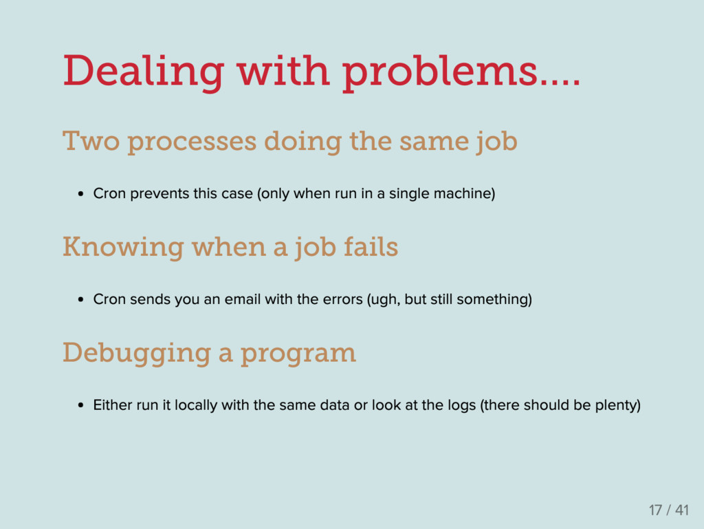 Dealing with problems.... Two processes doing t...