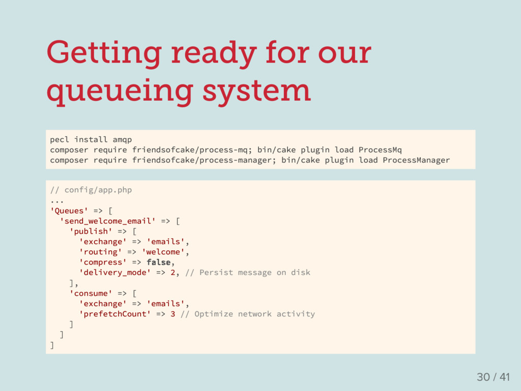 Getting ready for our queueing system pecl inst...