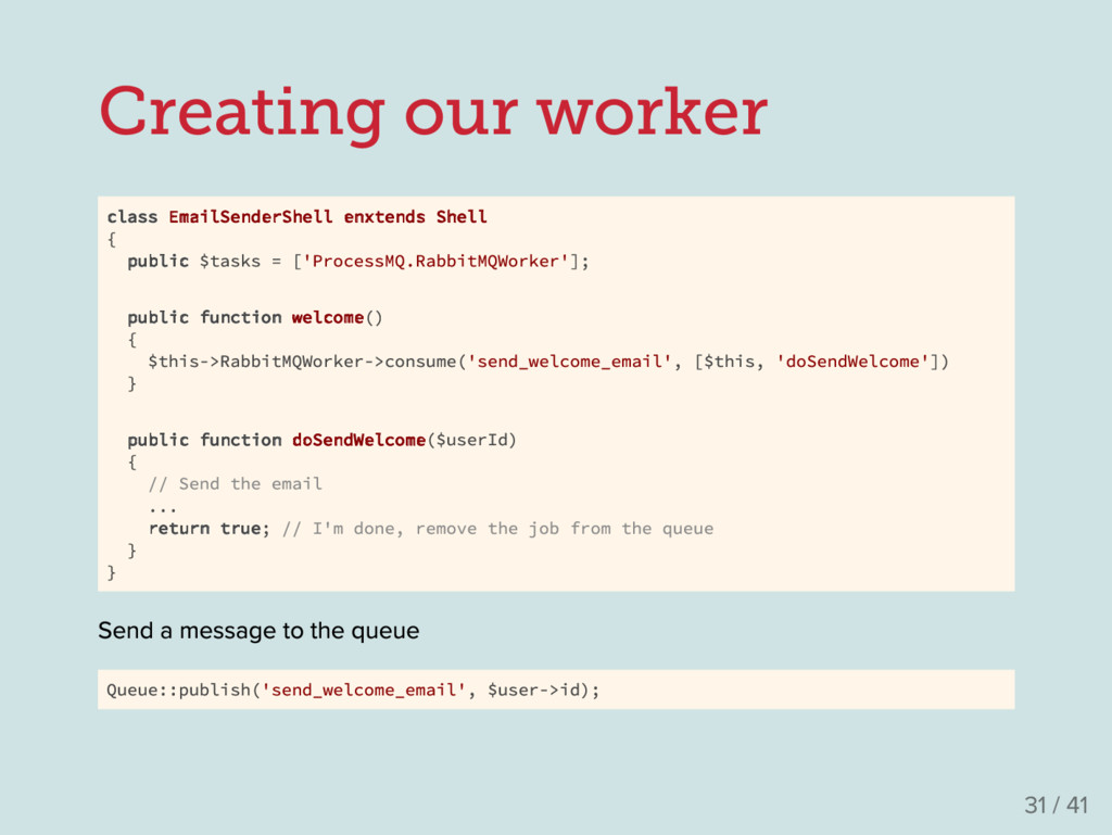 Creating our worker class EmailSenderShell enxt...