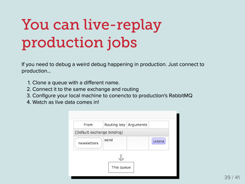 You can live-replay production jobs If you need...