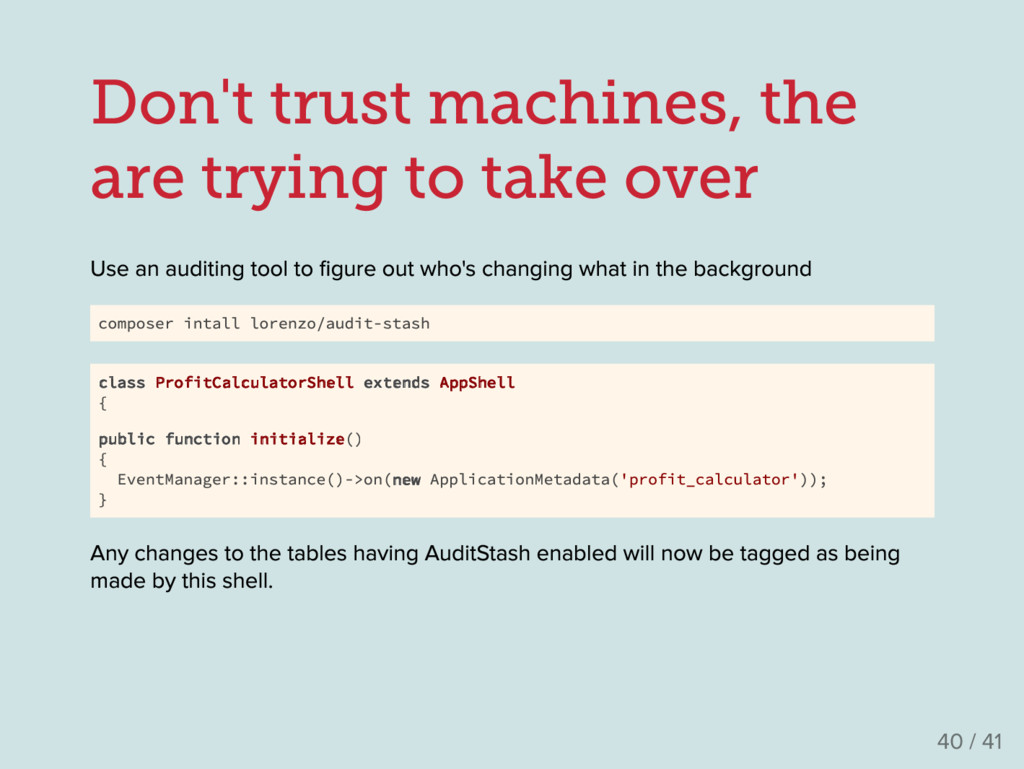 Don't trust machines, the are trying to take ov...
