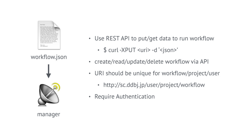 workflow.json • Use REST API to put/get data t...