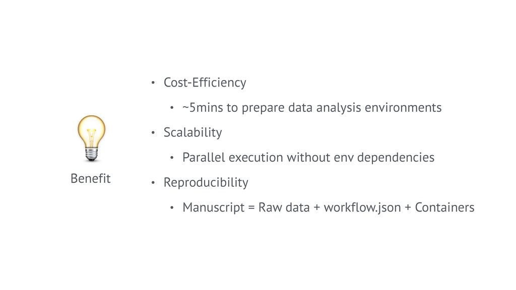 • Cost-Efficiency • ~5mins to prepare data anal...