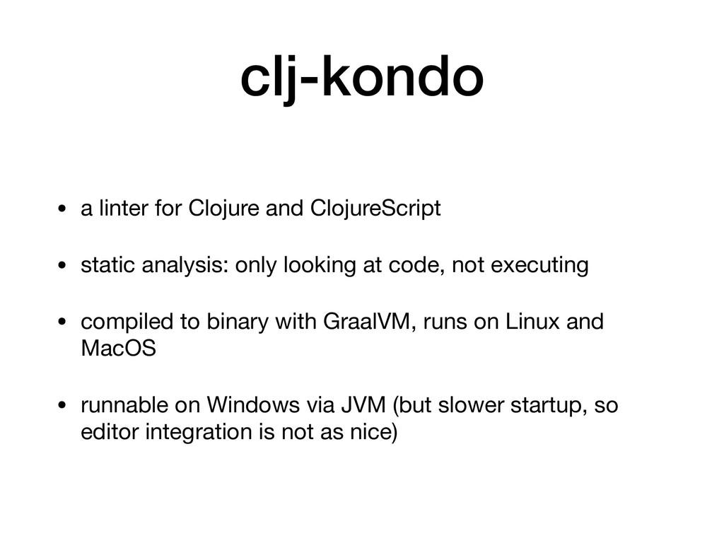 clj-kondo • a linter for Clojure and ClojureScr...