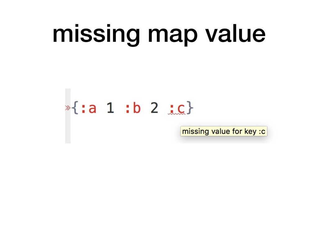 missing map value