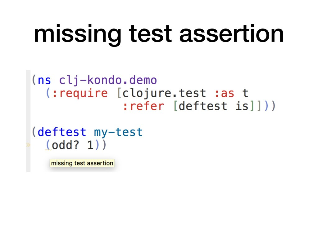missing test assertion
