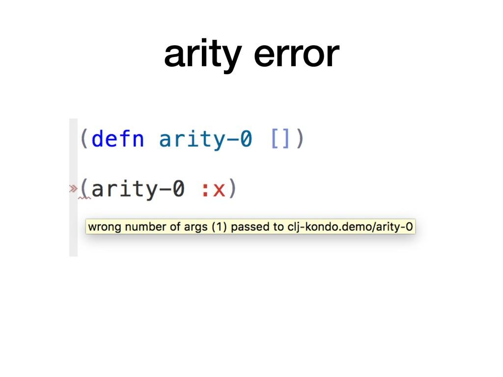 arity error