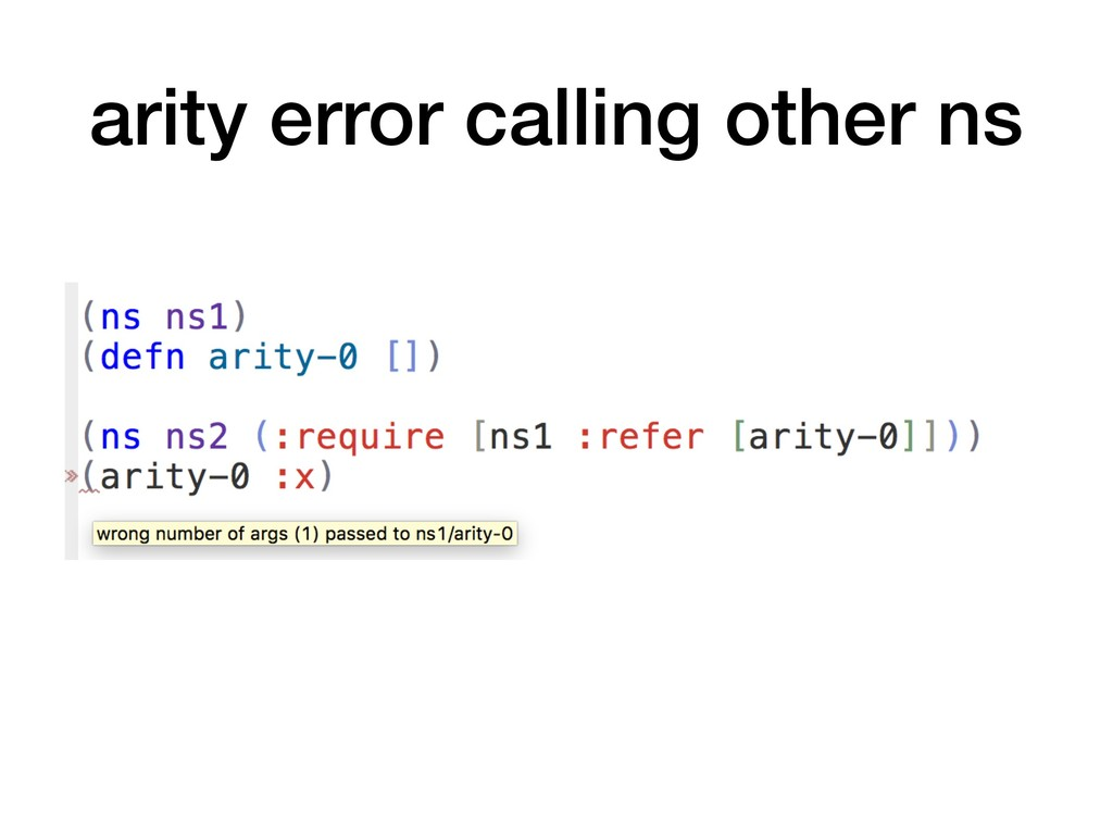 arity error calling other ns