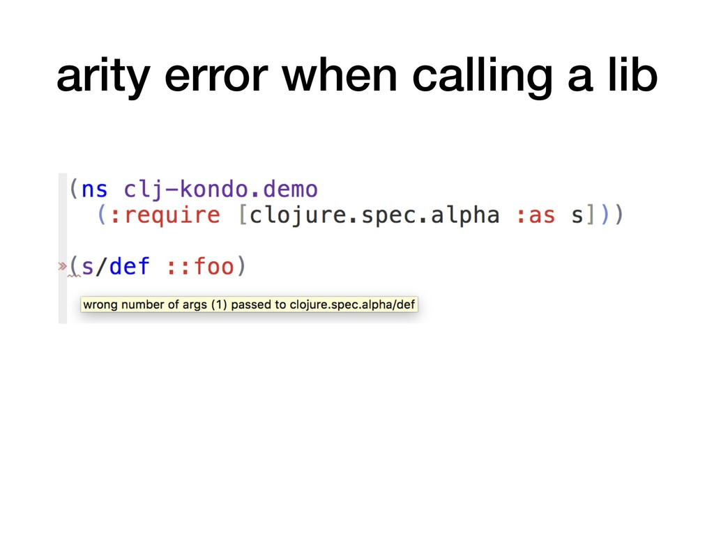 arity error when calling a lib
