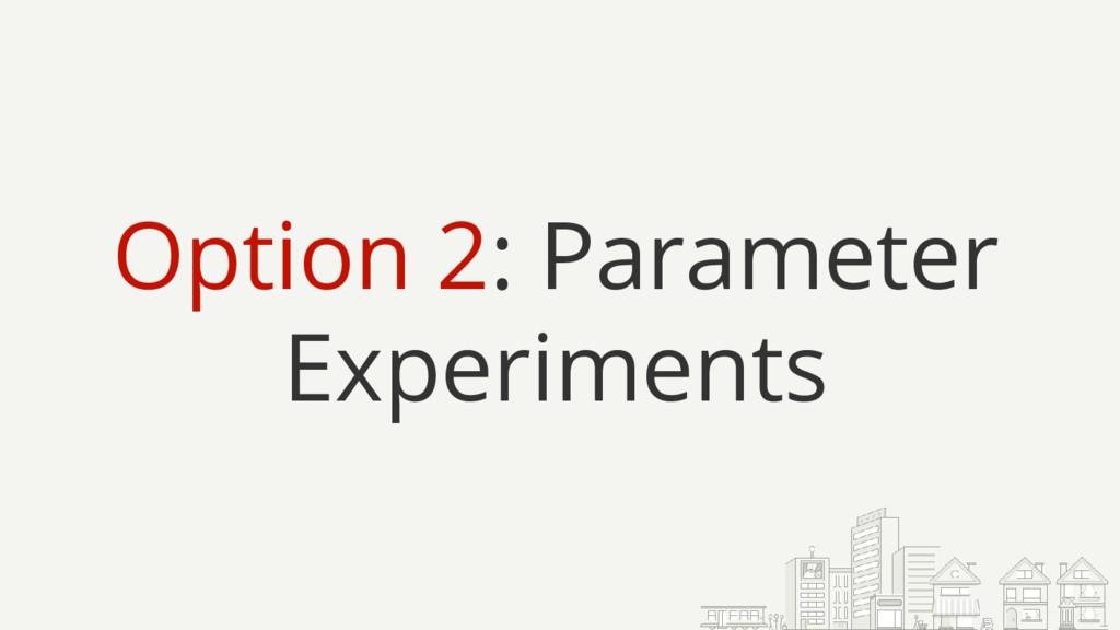 Option 2: Parameter Experiments