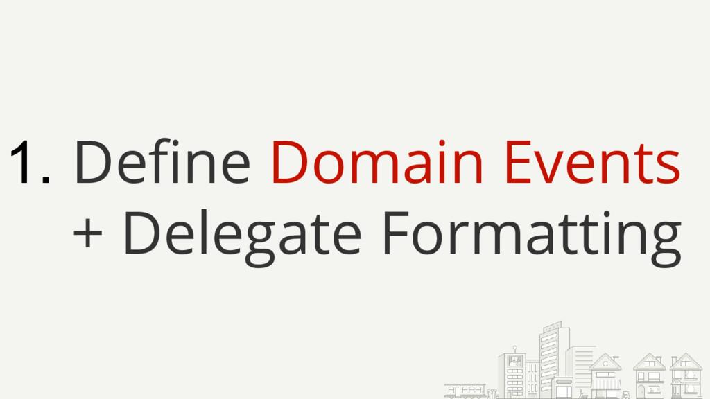 1. Define Domain Events + Delegate Formatting