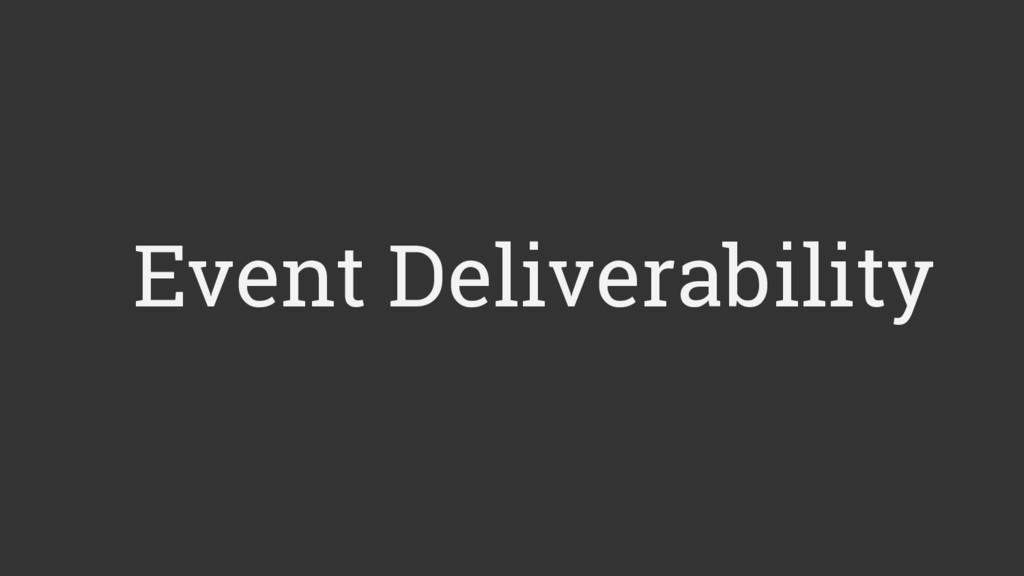 Event Deliverability