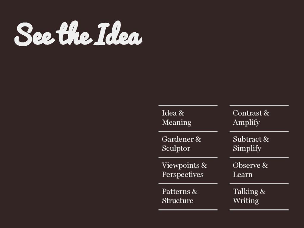 Idea & Meaning Gardener & Sculptor Viewpoints &...