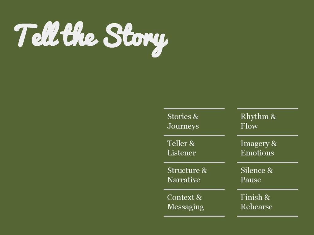 Stories & Journeys Teller & Listener Structure ...