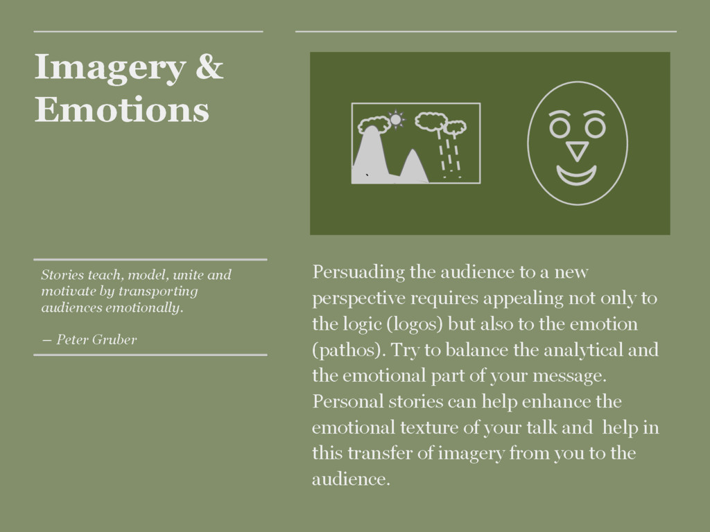 Imagery & Emotions Persuading the audience to a...