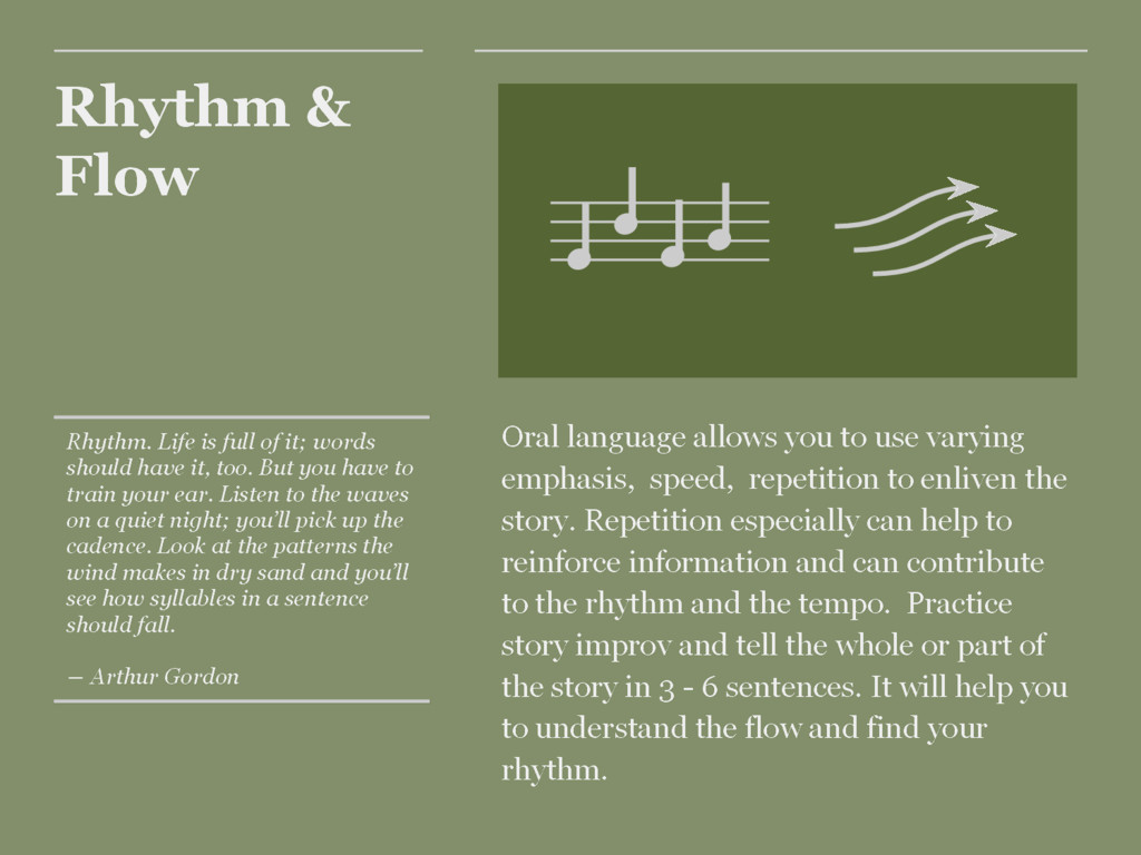 Rhythm & Flow Oral language allows you to use v...