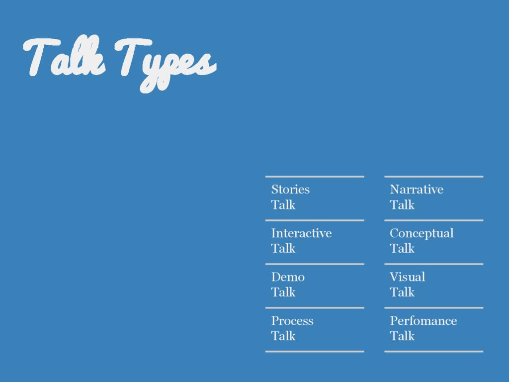 Stories Talk Interactive Talk Demo Talk Process...