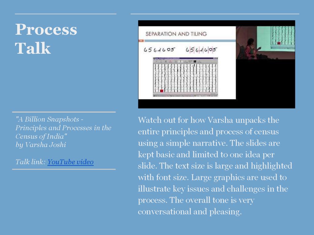 "Process Talk ""A Billion Snapshots - Principles ..."