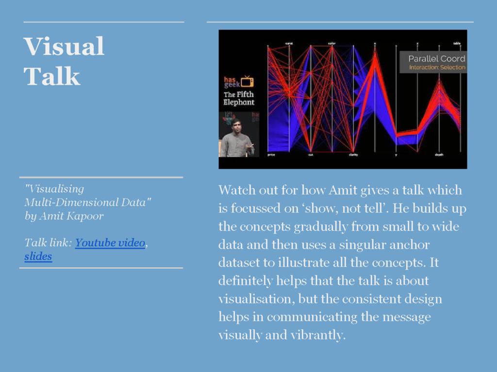 "Visual Talk ""Visualising Multi-Dimensional Data..."