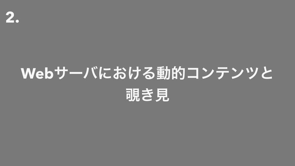 2. Webαʔόʹ͓͚Δಈతίϯςϯπͱ ͖ݟ