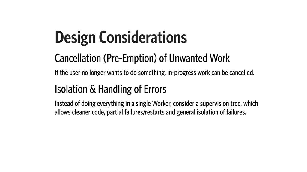 Design Considerations Cancellation (Pre-Emption...