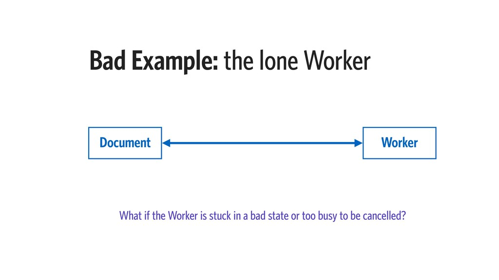 What if the Worker is stuck in a bad state or t...