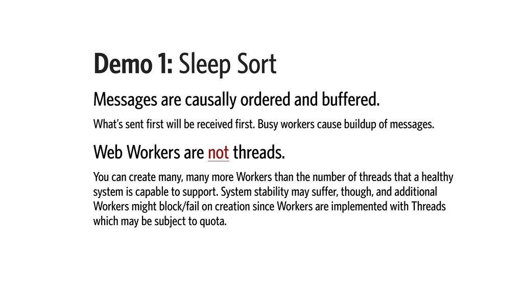 Demo 1: Sleep Sort Messages are causally ordere...