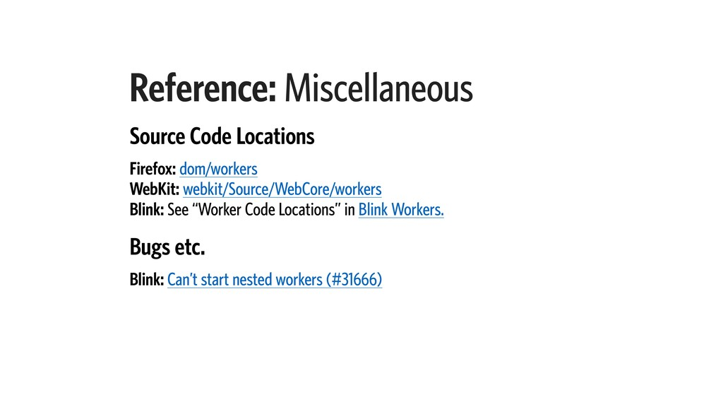 Reference: Miscellaneous Source Code Locations ...
