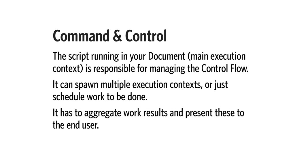 Command & Control The script running in your Do...