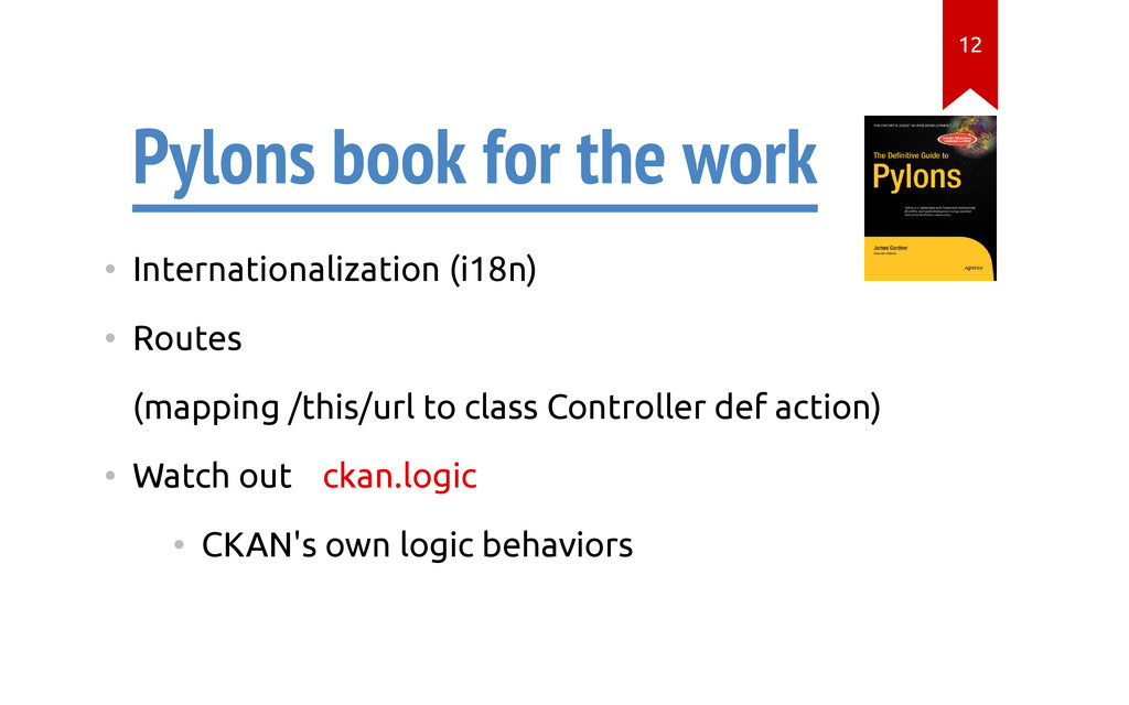 Pylons book for the work • Internationalization...