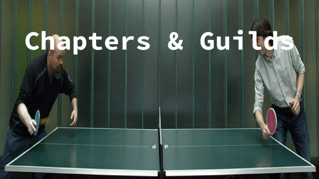Chapters & Guilds